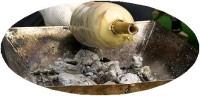 バームクーヘン焼き